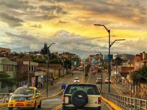 chimborazo atardecer espectacular desde riobamba