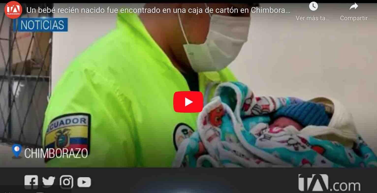 VIDEO: Un bebé recién nacido fue encontrado en una caja de cartón en Chimborazo