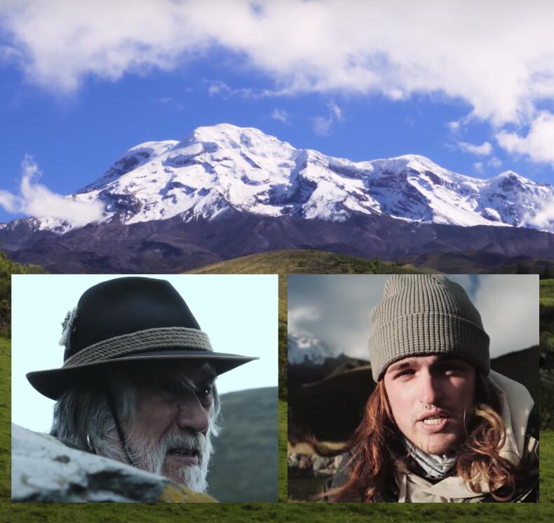 VIDEO: Famoso Youtuber conoce a una leyenda del Chimborazo, el caballero de la montaña Marco Cruz